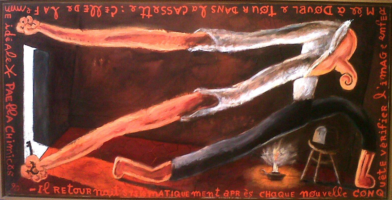 """""""La femme idéale"""" Paella Chimicos (100x200cm)"""