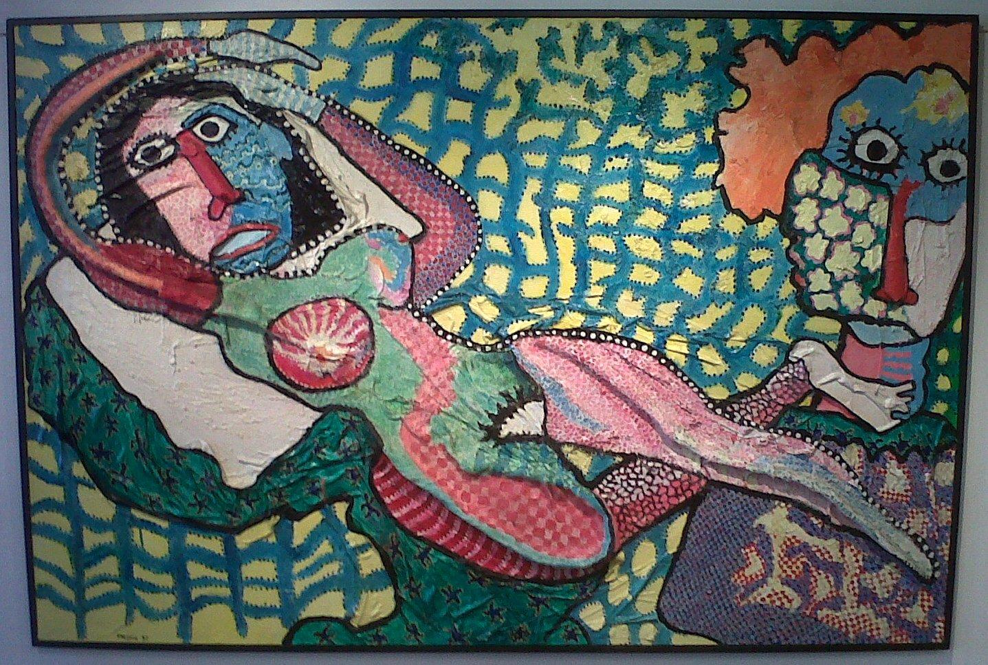"""""""Ah! Que les femmes sont belles"""" Joël Crespin, 1997 (130x195cm)"""