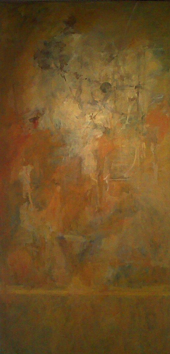 Traversée d'ocres, 2011, 200x99cm (Yanik)
