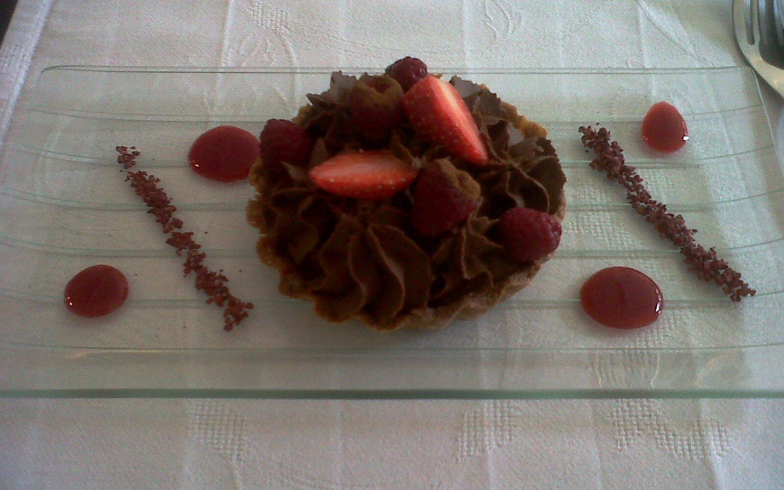 Tartelette chocolat framboise (crédit: Yanik)