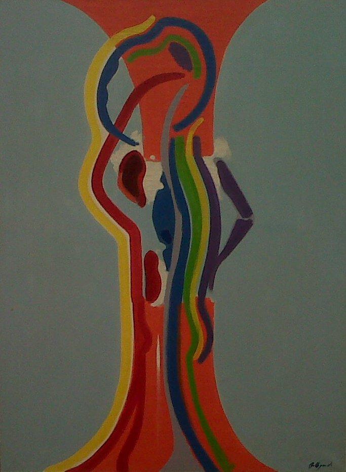 """""""L'écorché""""  Claude Bellegarde, 1973, 130x97cm (crédit: Yanik)"""