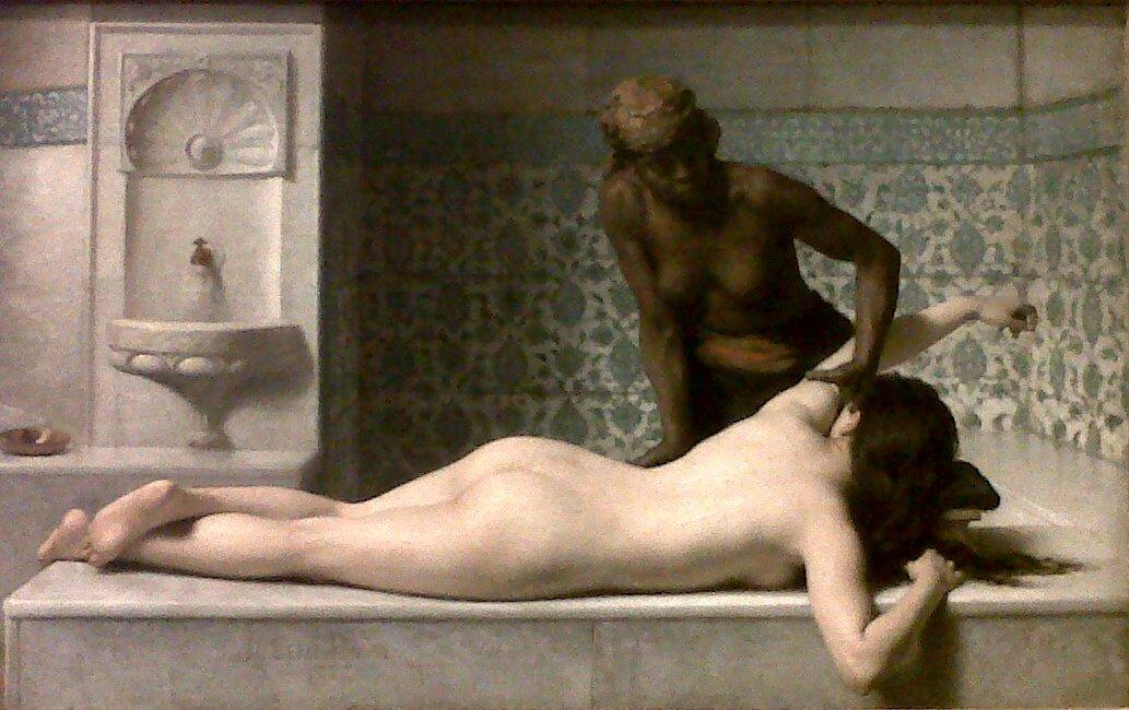 "Edouard Debat-Ponsan ""Le massage"" 1883 (crédit: Yanik)"