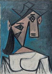 """""""Tête de femme"""" Pablo Picasso (source: Interpol)"""