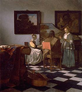 """Le concert"" Johannes Vermeer (source: wikipedia)"