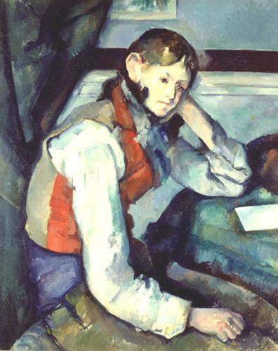 """""""Graçon à la veste rouge"""" Paul Cézanne (source: Interpol)"""