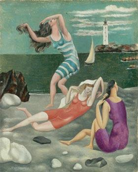 """""""Les Baigneuses"""", tableau peint à Biarritz en 1918 par  Pablo Picasso (source: Muséee Picasso Paris)"""