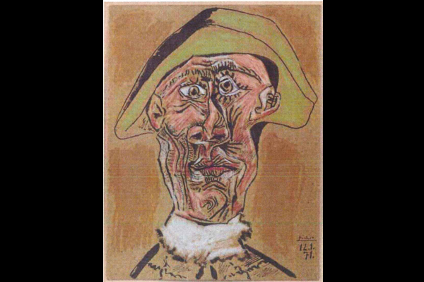 « Tête d'Arlequin » Pablo Picasso, 1971 (source: Interpol)