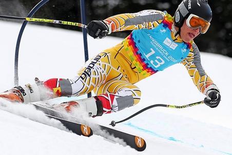 Le slalomeur marocain Adam Lamhadeni (APA)