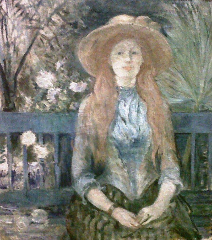 """Berthe Morisot """"Jeune fille dans un parc"""" (Yanik)"""