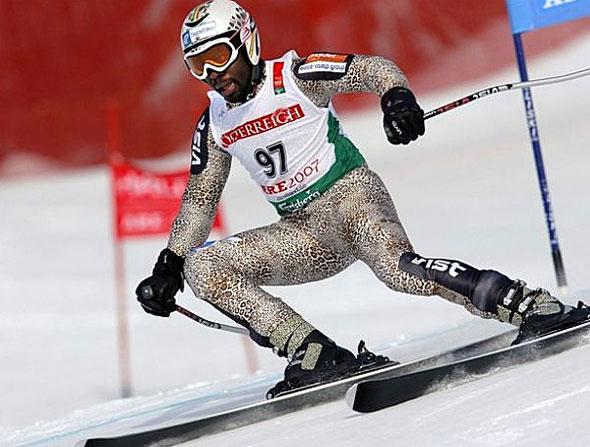 Le ghanéen Kwame Nkrumah-Acheampong, surnommé le léopard des neiges (Getty Images)