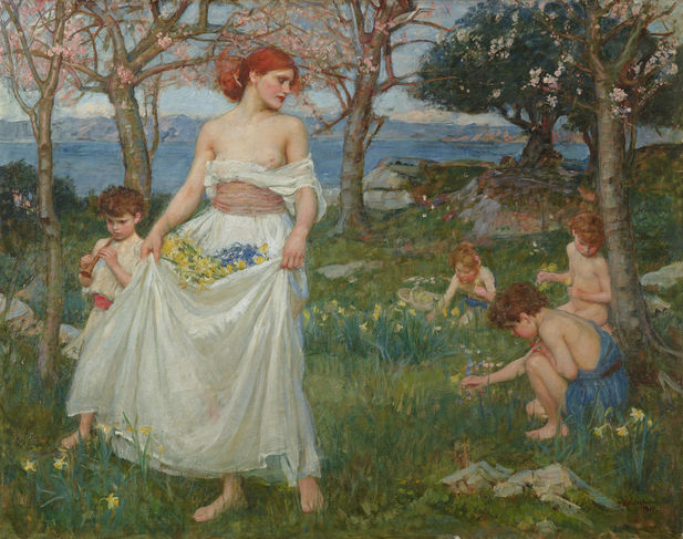 "John William Waterhouse ""Le chant du printemps"" (lemonde.fr)"