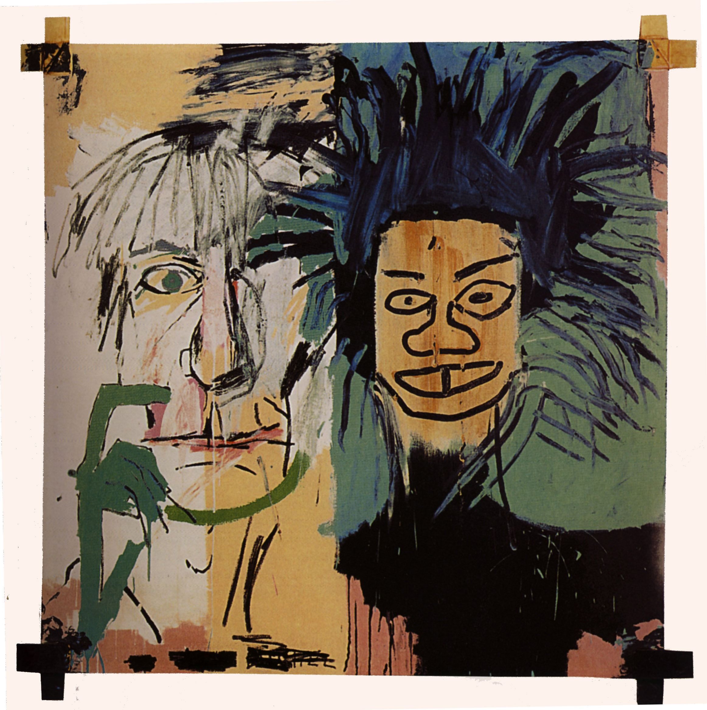 "Jean-Michel Basquiat ""Dos cabezas"" (wikipaintings)"