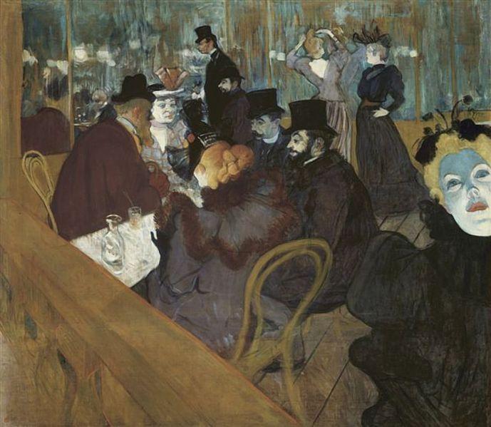 """Henri de Toulouse Lautrec """"Au Moulin Rouge"""" 1892 (wikipedia)"""