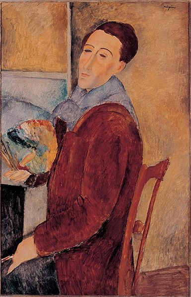"Amedeo Modigliani ""Autoportrait"" 1920 (wikipedia)"