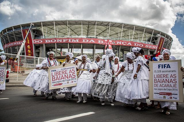 Manifestation des vendeuses d'acarajé à Salvador de Bahia (Flickr / Ninja Midia)