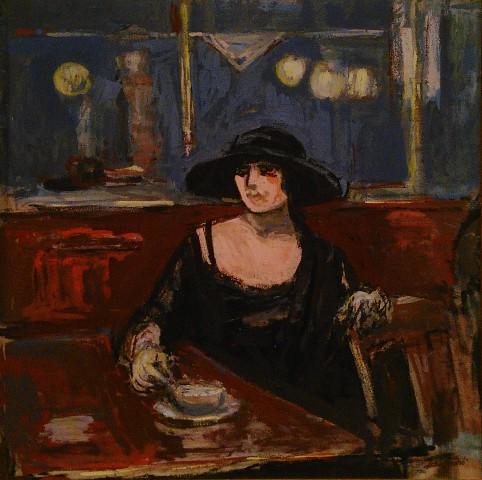 """Albert André """"A l'affût"""", 1912 (photo de l'auteur)"""