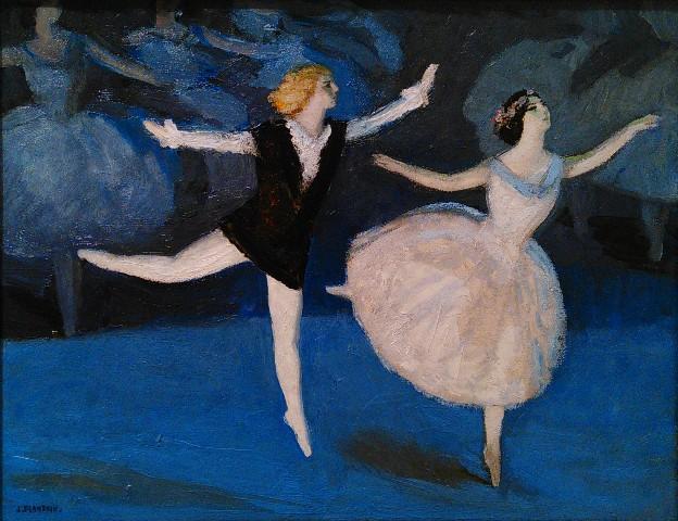 "Jules Flandrin ""La Pavlova et Nijinski"", 1909 (photo de l'auteur)"