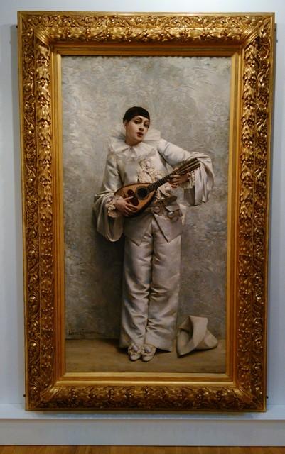 """Léon Comerre """"Pierrot jouant de la mandoline"""", 1884 (photo de l'auteur)"""