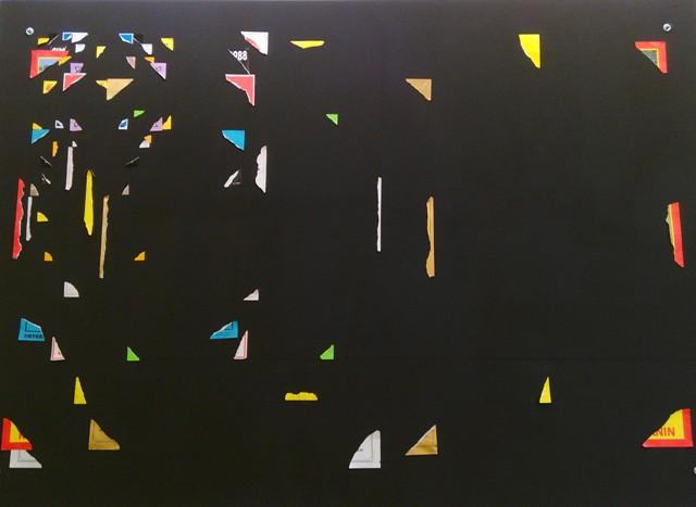 """Rémi Groussin """"Wall Over"""" 300x300cm (photo de l'auteur)"""