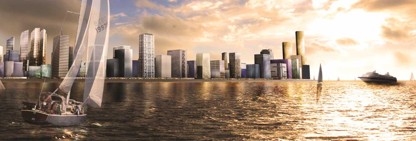 Le futur quartier Eko Atlantic à Lagos, symbole du dynanisme économique de la mégapole