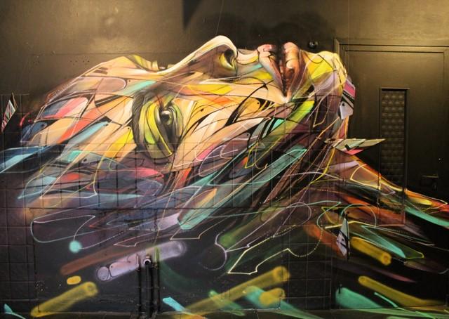Hopare sur un des murs du rdc (photo de l'auteur)