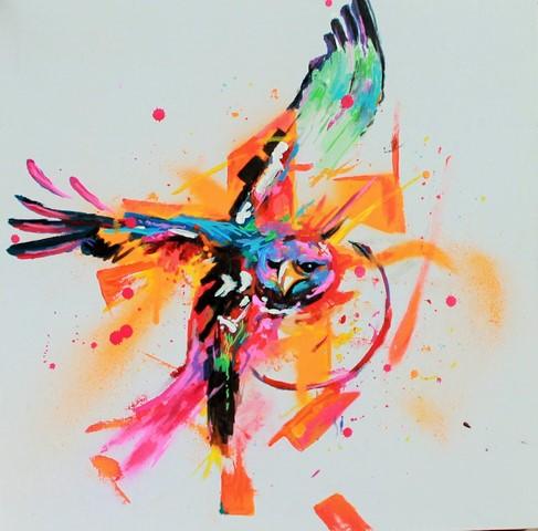 "Marlon, ""When eagles dare"", acrylique sur toile (© Get Arty)"